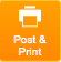 Post & Print Button