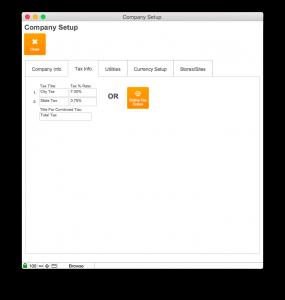 Company Setup Tax Info Tab
