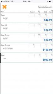 PayGo FancyFree 5.5 Inventory Found Screen