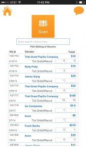 PayGo FancyFree 5.5 Purchase Order List
