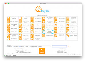 PayGo Menu Screen Define Departments Circled