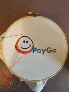 Jess's Embroidery of PayGo Logo