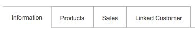 PayGo POS Vendor:Consignor:Manufacturer Entry Screen Top Tabs