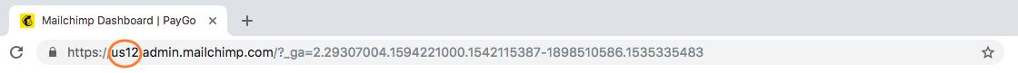 MailChimp URL Code for PayGo MC