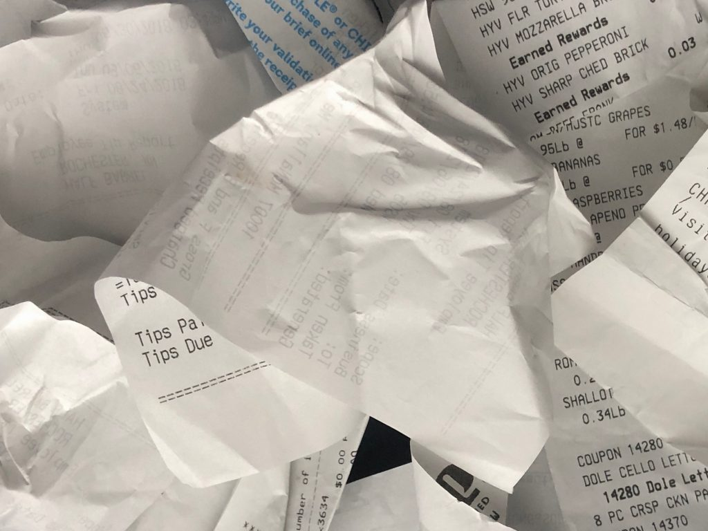 Paper Receipts