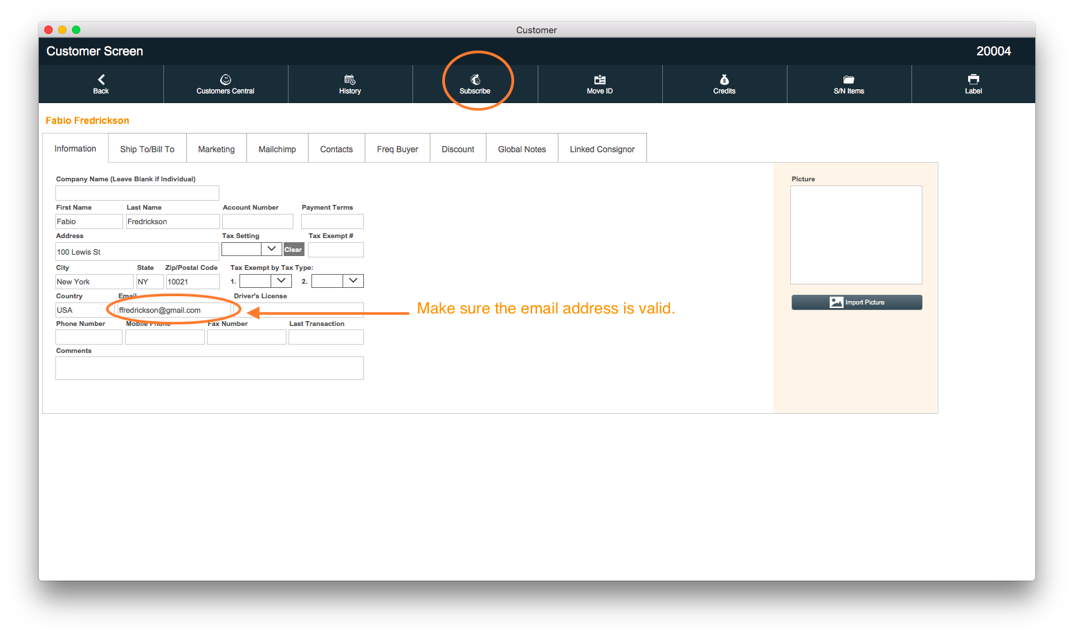 PayGo 6 POS Customer Screen MailChimp Email Entry