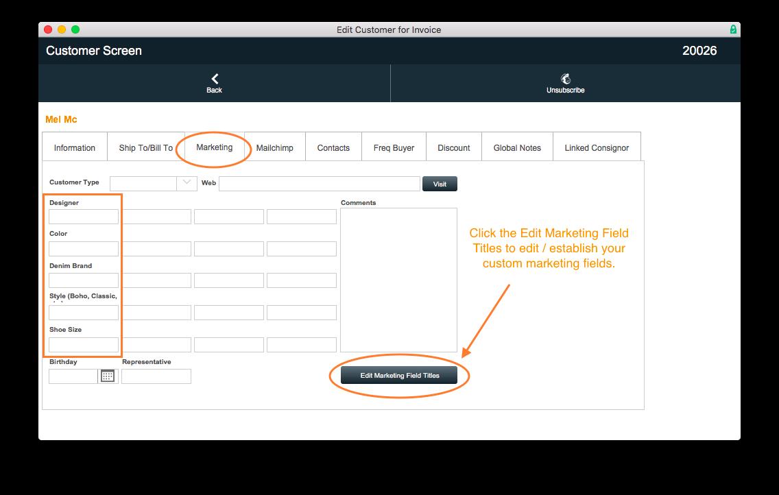 PayGo 6 POS Customer Screen Marketing Custom Fields